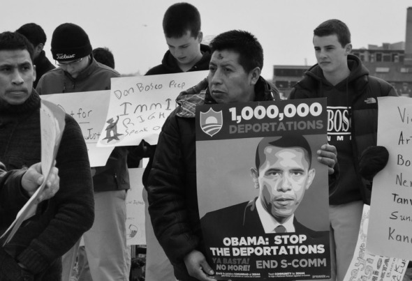 The Obama administration has deported more than 392,000 immigrants in 2010; roughly 396,000 in 2011; and almost 410,000 in 2012, according to ICE.Photo by NOEL PANGILINAN
