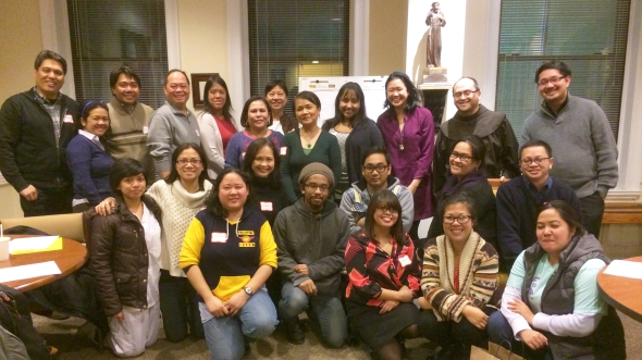 Among those represented at the meeting last week were the Migrant Center at CSFA, the Filipino Diocesan Apostolate of the Diocese of Brooklyn, AnakBayan – New Jersey, AnakBayan – New York, Bayan USA, Damayan Migrant Workers Association, Filipino American Legal Defense and Education Fund (FALDEF), Gabriela – New York, ImmigraNation.com, National Alliance for Filipino American Concerns (NAFCon), New York Legal Assistance Group (NYLAG), Scalabrinian Center, Task Force Haiyan and Philippine Forum.                                            Photo by NOEL T. PANGILINAN