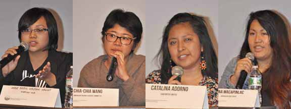 Among the speakers during the forum were Anne Beryl Naguit of the National Alliance for Filipino Concerns, Cha-Cha Wang of American Friends Service Committee, Catalina Adorno of Choforitos United and Nina Macapinlac of Anakbayan - New Jersey.
